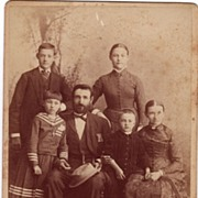 Cabinet Photograph C. 1880 Family Portrait