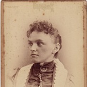 Cabinet Photograph C. 1880 Portrait of a Woman