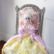 An 18th century lady Anita type Boudoir doll, circa 1920's