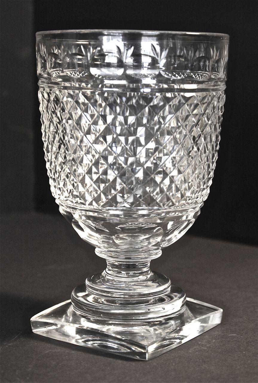 Regency Period Hand Cut Crystal Celery Vase Art Decosurf
