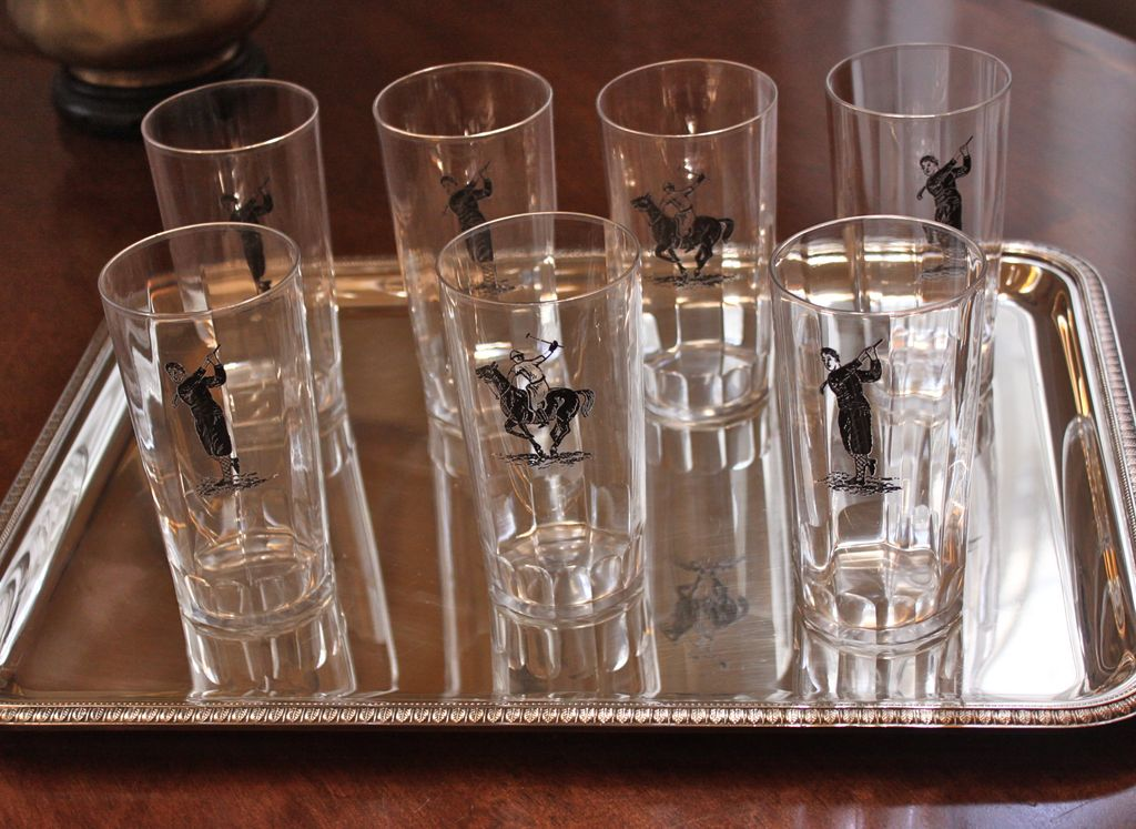 Art Deco Highball Glasses Set of 7