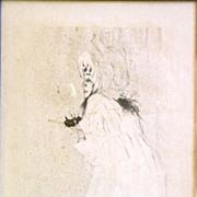 """Henri de Toulouse-Lautrec Lithograph """"Miss May Belfort"""""""