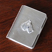 Napier Art Deco Silver-Plated Pill Box