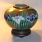 Kutani Art Deco Iris vase