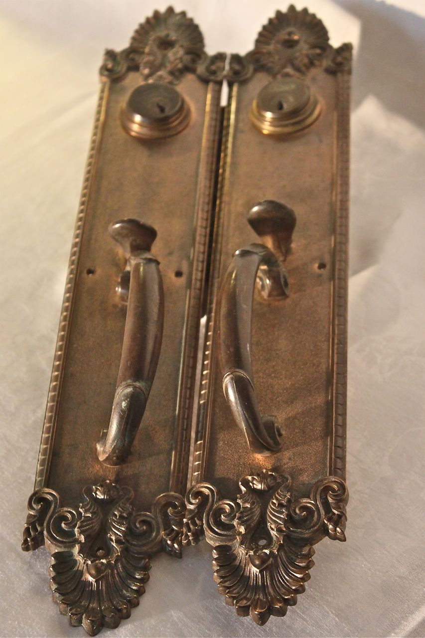 Antique Yale Bronze Thumb Paddle Entry Set