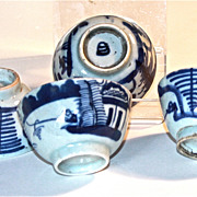 19th Century Chinese Blue and White Rice Wine Cups