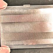 English Sterling Silver Art Deco Cigarette Case