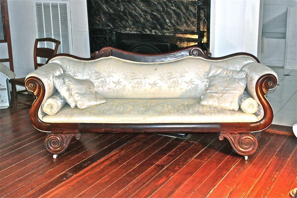 American Empire Clical Diminutive Rosewood Sofa Art Decosurf N Ruby Lane