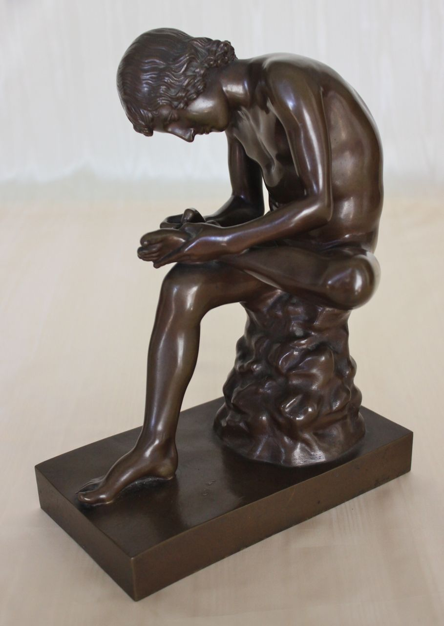 Spinario Boy With Thorn 19th C Barbedienne Bronze Sold
