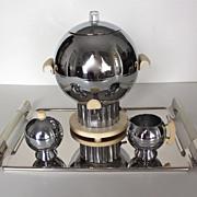 Walter Von Nessen Coronet 3-Piece Coffee Service C. 1939