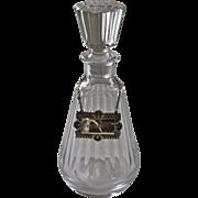1970's Baccarat Lead Crystal Brandy Decanter
