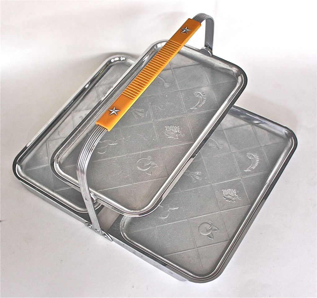 Chase art deco 2 tier folding canape tray from rubylane sold on ruby lane - Canape art deco cuir ...