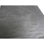 Department of the Navy Damask Linen Tablecloth