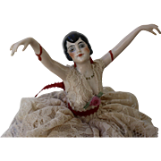Dancing Flapper Pin Cushion Doll