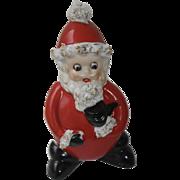 1950's Christmas Googly Eyed Santa Vase