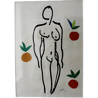 "Henri Matisse, ""Nu aux Oranges"" Original Color Lithograph"
