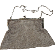 Sterling Silver Mesh Evening Bag Circa 1930's