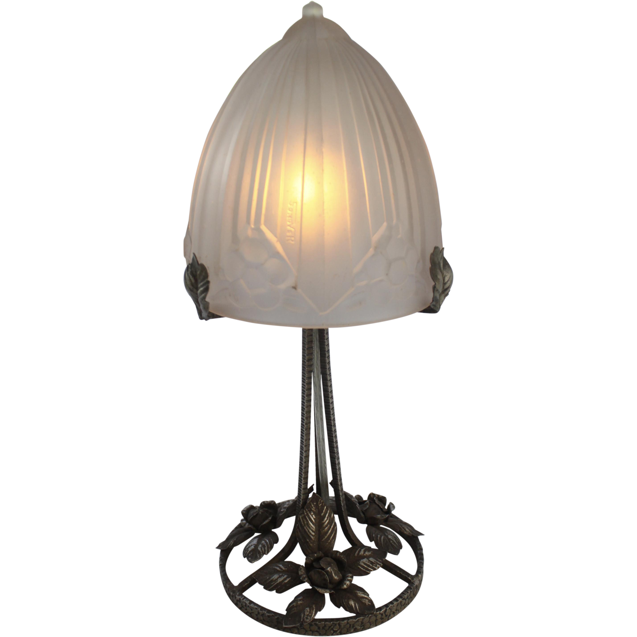 Verrier Sonover French Art Deco Table Lamp Circa 1925