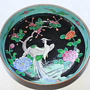 Chinese Export Famille Noire Narcissus bowl Mid to Late 19th Century