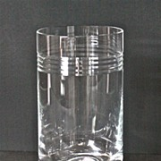 1980's Contemporary Lenox crystal vase