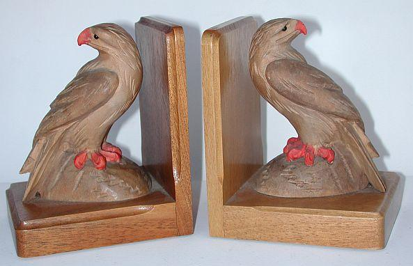Nice pair of vintage Brienz handcarved eagle bookends