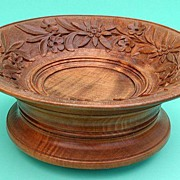 Wonderful old Brienz handcarved wood bread bowl