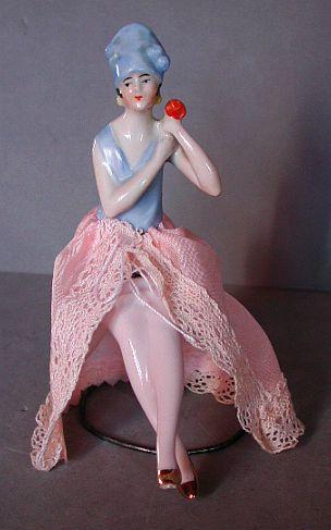 Cute 20s Flapper half doll with legs