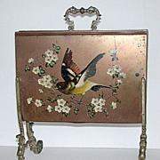 Rare antique 1900s handpainted bird letter rack
