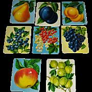 8 Vintage Scrapbook Cut-outs Fruit