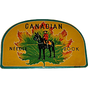 VintageCanadian Mountie Needle Book