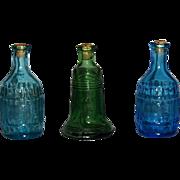 3 Vintage Miniature Bottles