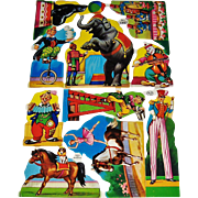 Full Sheet Vintage Cut-outs MLP #1307 Circus Theme