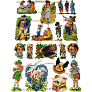 Full Sheet Vintage Cut-outs MLP # 1585 Children and Dressed Animals