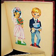 Vintage Scrapbook with Content