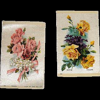 2 Vintage Tobacco/Cigarette Silks Flowers #54 & #55