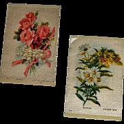 2 Vintage Tobacco/Cigarette Silks Flowers #24 & #55