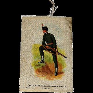 Vintage Tobacco/Cigarette Silk #24 Canadian Military