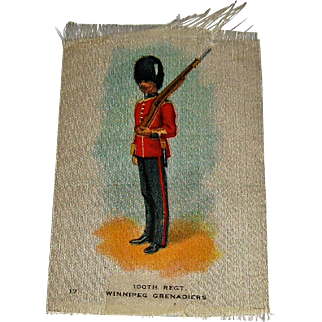 Vintage Tobacco/Cigarette Silk #17 Canadian Military