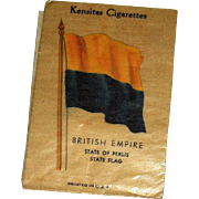 Vintage Kensitas Cigarette Silk Flag with Waxed Packet