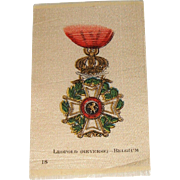 Vintage Tobacco/Cigarette  Silk # 18 Medal or Medallion