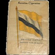 Vintage Kensitas Cigarette Silk Flag with Waxed Packet