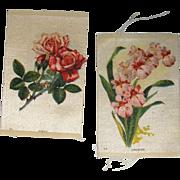 Vintage Tobacco/Cigarette Silk Flowers #34 & #17