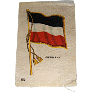 Vintage Tobacco/Cigarette Silk #112 Flag