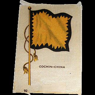 Vintage Tobacco/Cigarette Silk #92 Flag