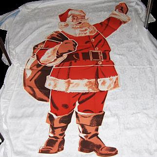 Vintage 1950's Santa Claus Pattern 6 Foot Tall