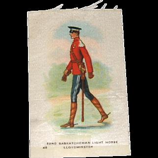 Vintage Tobacco/Cigarette Silk #45 Canadian Military