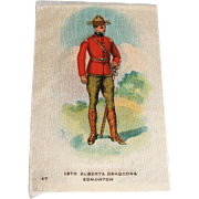 Vintage Tobacco/Cigarette Silk #47 Canadian Military
