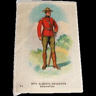 Vintage Tobacco/Cigarette Silk #47 Canadian Military