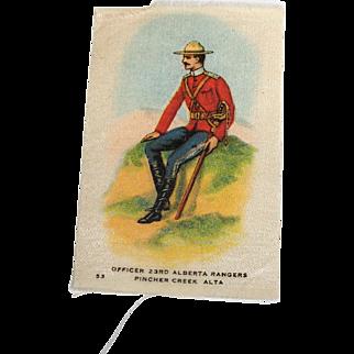 Vintage Tobacco/Cigarette Silk #33 Canadian Military