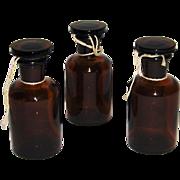 Wheaton Apothecary Pharmacy Bottles Set of 3